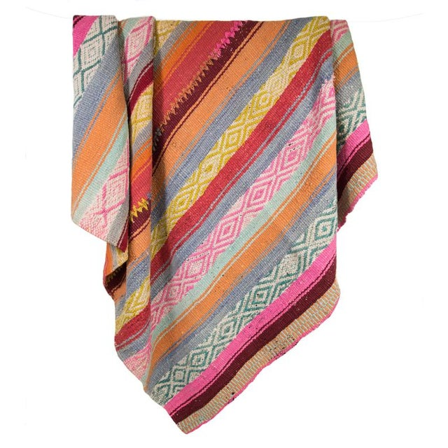 Handwoven Peruvian Throw - Image 1 of 4