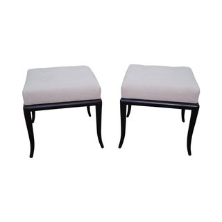 Robsjohn Gibbings Tufted Stools by Directional -- A Pair