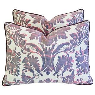 Designer Italian Fortuny Vivaldi Pillows - A Pair