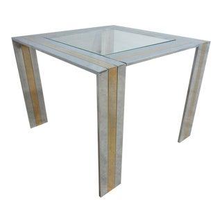 Paul Evans Chrome Brass End Table