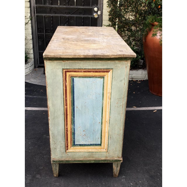 Superb Antique Paint Decorated Rustic Sideboard - Image 5 of 8