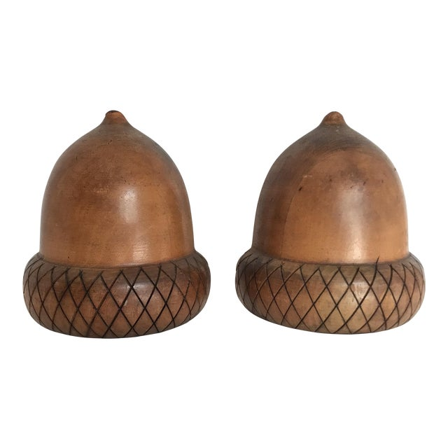 Mid-Century Acorn Bookends - A Pair - Image 1 of 4