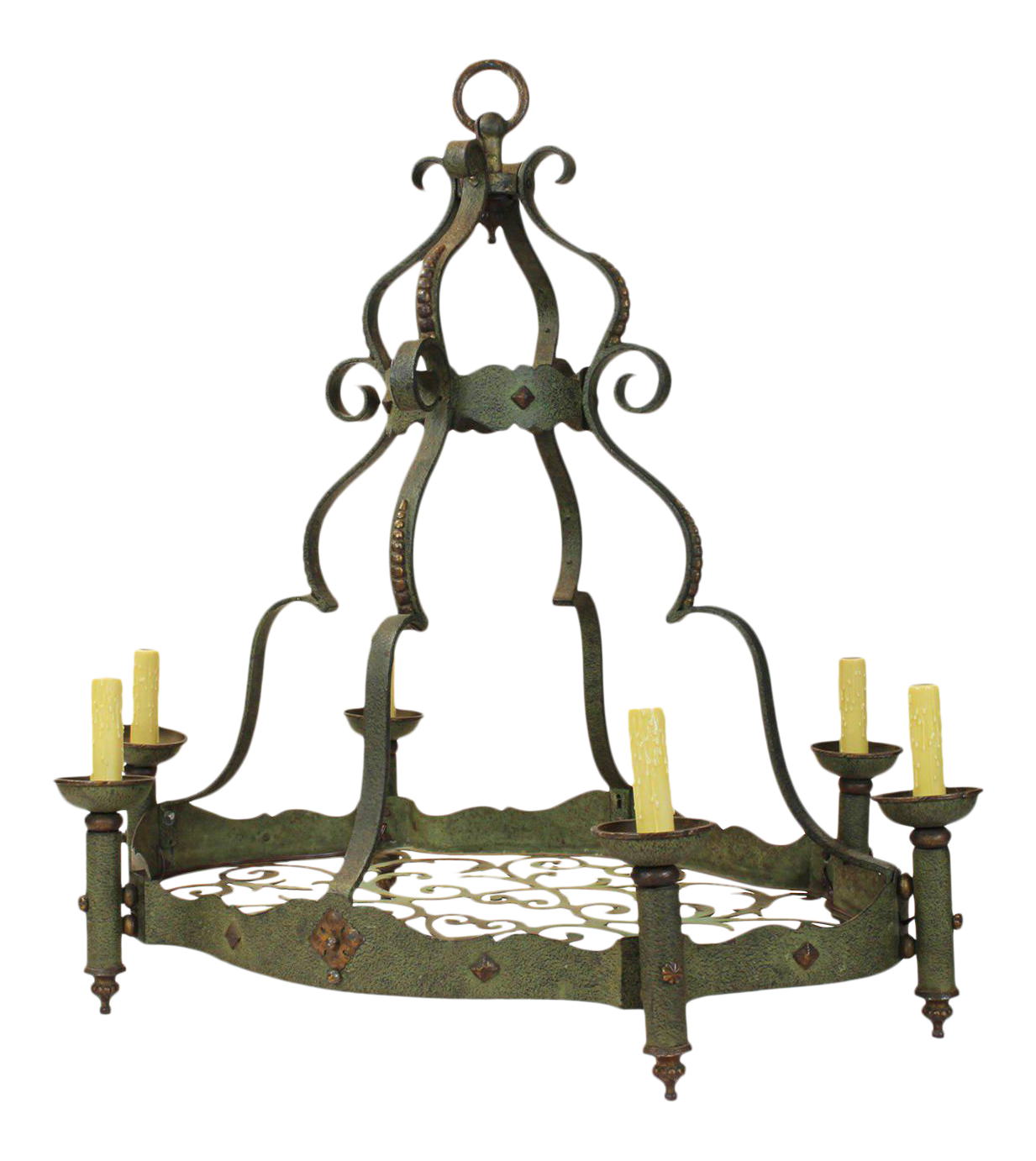 Hand-Forged Iron Chandelier  sc 1 st  Chairish & Vintage u0026 Used Gothic Lighting | Chairish azcodes.com