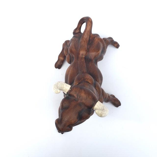 Image of Vintage Ceramic Stock Market/Wall Street Bull