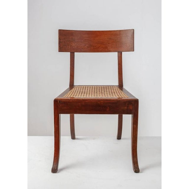 Ole Peter Momme Oak and Cane Klismos Chair, Denmark, 1880s - Image 2 of 10