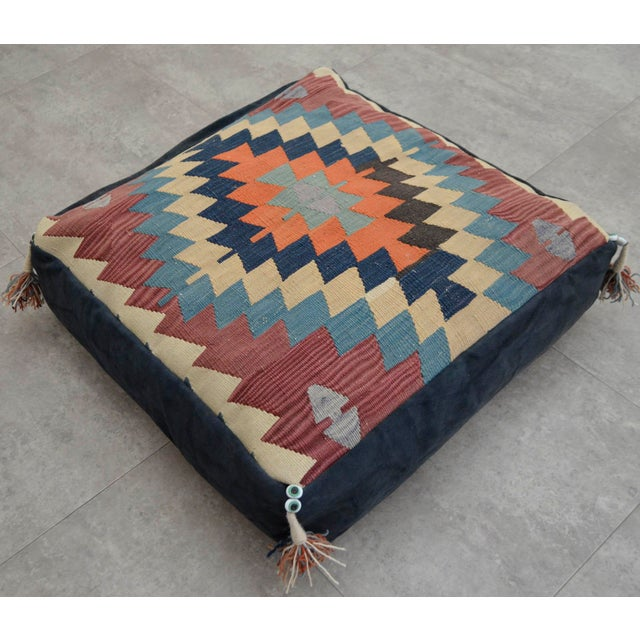 Floor Pillow Covers 25x25 : Handmade Kilim Rug Floor Cushion Pillow Cover - 24? X 24? Chairish