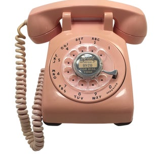Pink 1961 Date Matched Rotary Dial Desk Phone