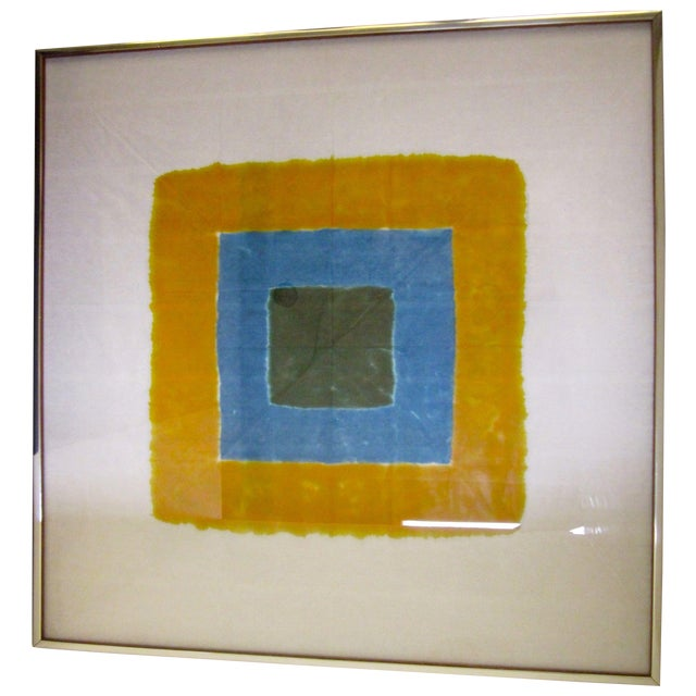 Josef Albers att Modern Abstract Square Artwork - Image 1 of 8