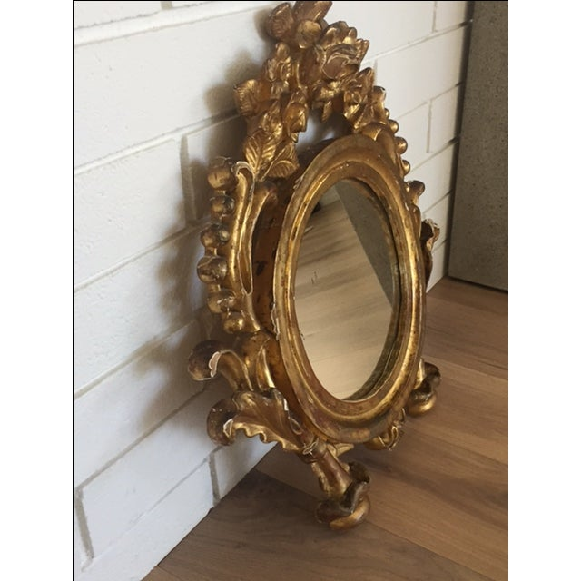 Antique Carved Gold Mirror - Image 3 of 9