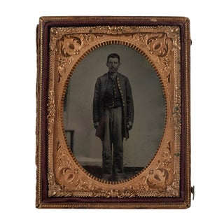 Civil War Soldier Framed Photograph, 1864