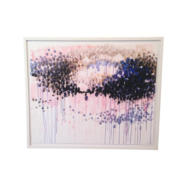 Original Abstract Pastel Watercolor Painting - Image 1 of 5