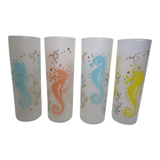 Sea Horse Glasses - Set of 8