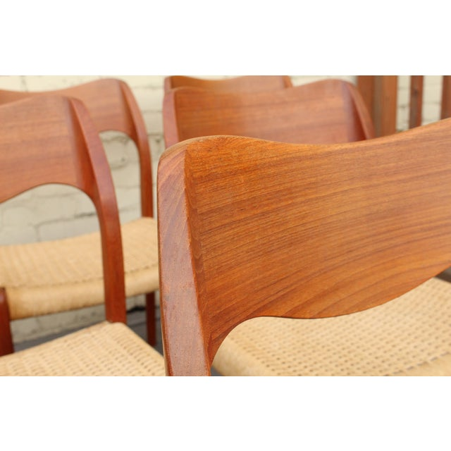 Moller Model 71 Teak Dining Chairs - Set of 6 - Image 5 of 11