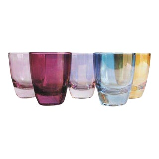 Vintage Shot Glasses, Set of 5