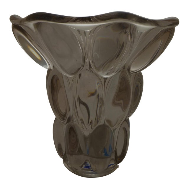 Mid-Century Modern Bubble Glass Vase - Image 1 of 11