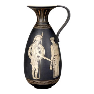 Tall Neoclassical Ewer With Etruscan Figures
