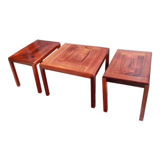1960s Danish Rosewood Coffee & End Tables - Set of 3