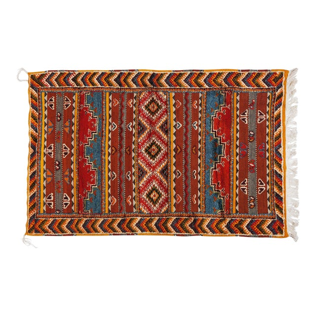 Atlas Multicolored Berber Rug - 3′6″ × 5′7″ - Image 1 of 3