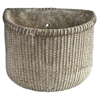 Cast Concrete Wall Planter Basket
