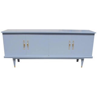 Circa 1940 French Art Deco Baby Blue Sideboard