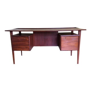 Danish Teak Floating Top Desk