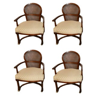 Cane Back Armchairs - Set of 4