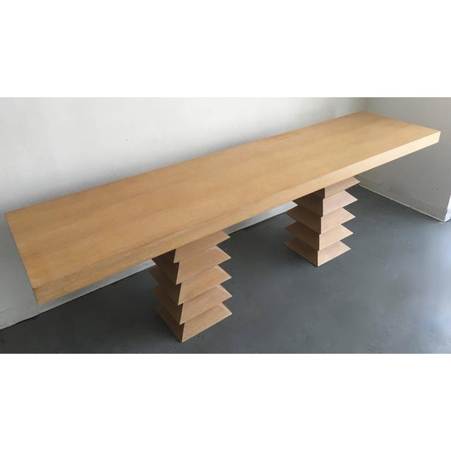 Image of Mid-Century Blonde Console Table
