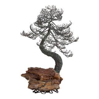 A Rare Bronze Bonsai Tree Table Sculpture 1960s
