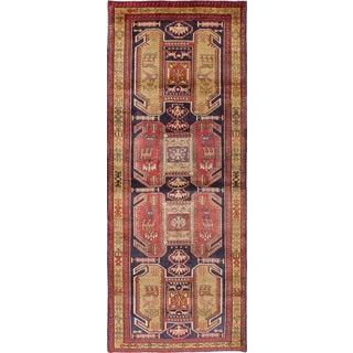"Vintage Ardabil Persian Rug - 3'11"" x 10'3"""