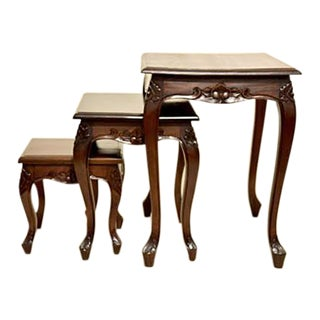 Queen Anne Style Nesting Tables - Set of 3