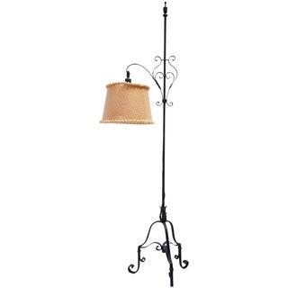 Hammered Wrought Iron Floor Lamp