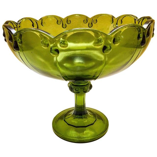 Vintage Green Glass Bowl - Image 1 of 9