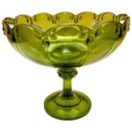 Image of Vintage Green Glass Bowl