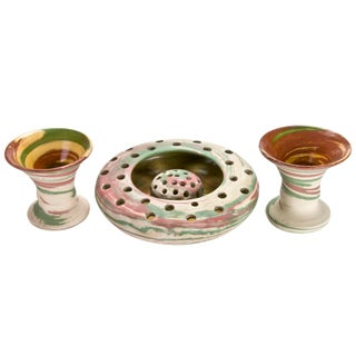 Vintage Nemadji Style Pottery - Set of 3