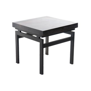 Square Petrified Wood Top Side Table I
