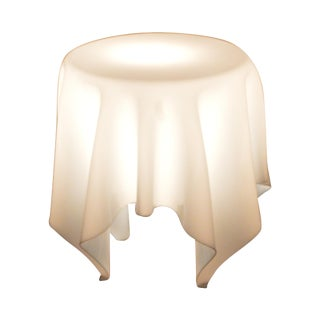 Table Cloth Shaped Acrylic Round Lighted Side Table