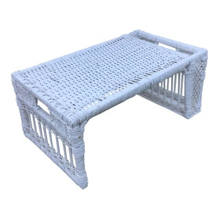 Vintage Wicker Bed and Breakfast Serving Tray
