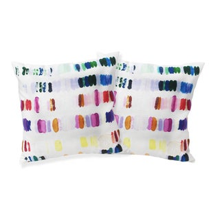 Colorful Heavenly Palette Linen Pillows - A Pair