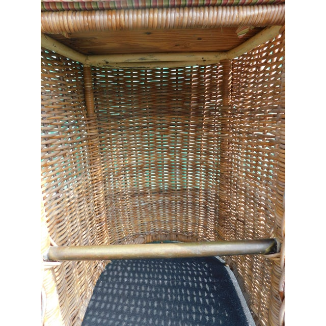 Boho Chic Wicker Stools - A Pair - Image 8 of 9