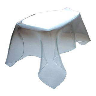 Laurel Fyfe Custom Designed Slumped Glass Desk