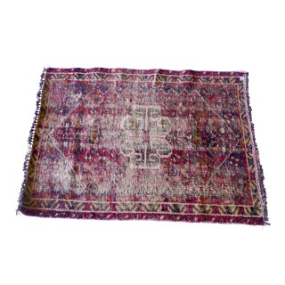 Hand Knotted Antique Persian Shirazi Wool Rug