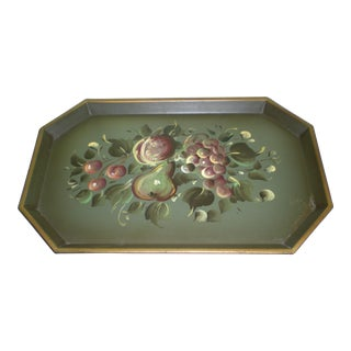 Nash Company New York Vintage Metal Hand Painted Fruit Tray