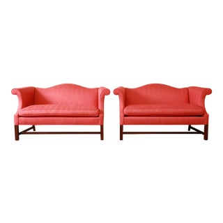 Kindel Furniture Chinese Chippendale Loveseats - A Pair