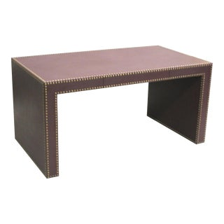 Sober French Leather Studded Desk