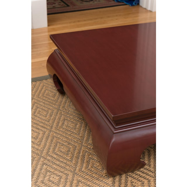 Image of Lacquer Claret-Red Coffee Table by Baker