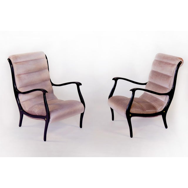 Restored Ezio Longhi Lounge Chairs - A Pair - Image 2 of 5