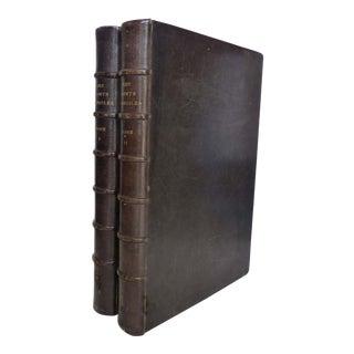 Splendid Two Volume Set 1873 First Edition Books Les Saints Evangiles - A Pair