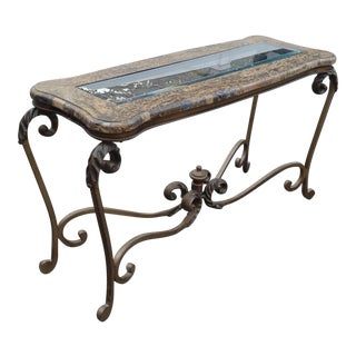 Marble and Glass Console Table