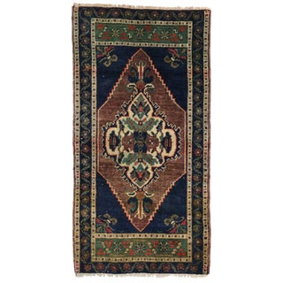 Vintage Yastik Turkish Rug with Modern Traditional Style - 1'10 x 3'6