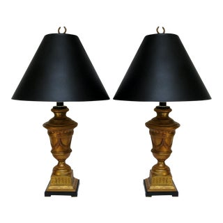 Gold Ceramic Lamps - a Pair